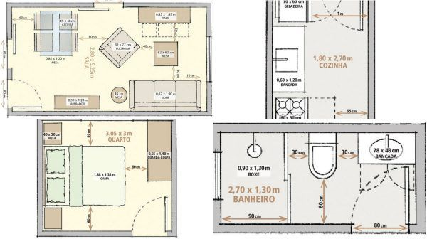 Minimum Size For Living Room Bedroom Kitchen And Bathroom 5