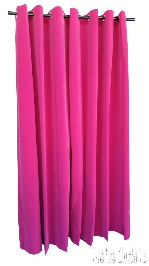 Pink 72 inch High Velvet Curtain Panel w Ring Grommet Top Eyelets Window Drape | eBay