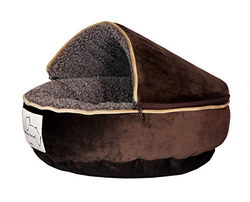 Floppy Ears Design Microfiber And Fleece Hooded Pet Bed