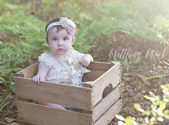 Free shipping,Antique ivory petti romper,vintage style romper,flower girl,ivory lace petti romper,ivory rompers,smash cake