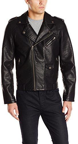 Pin by Lookastic on Men s Leather Jackets  963f304911b