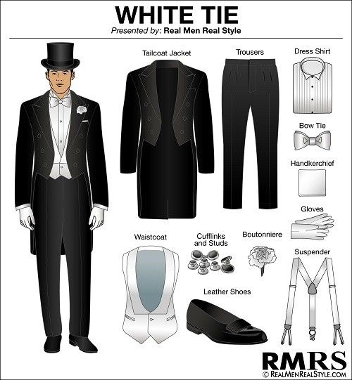 White Tie Or High Society Formal Dress Code Etiquette Clothes
