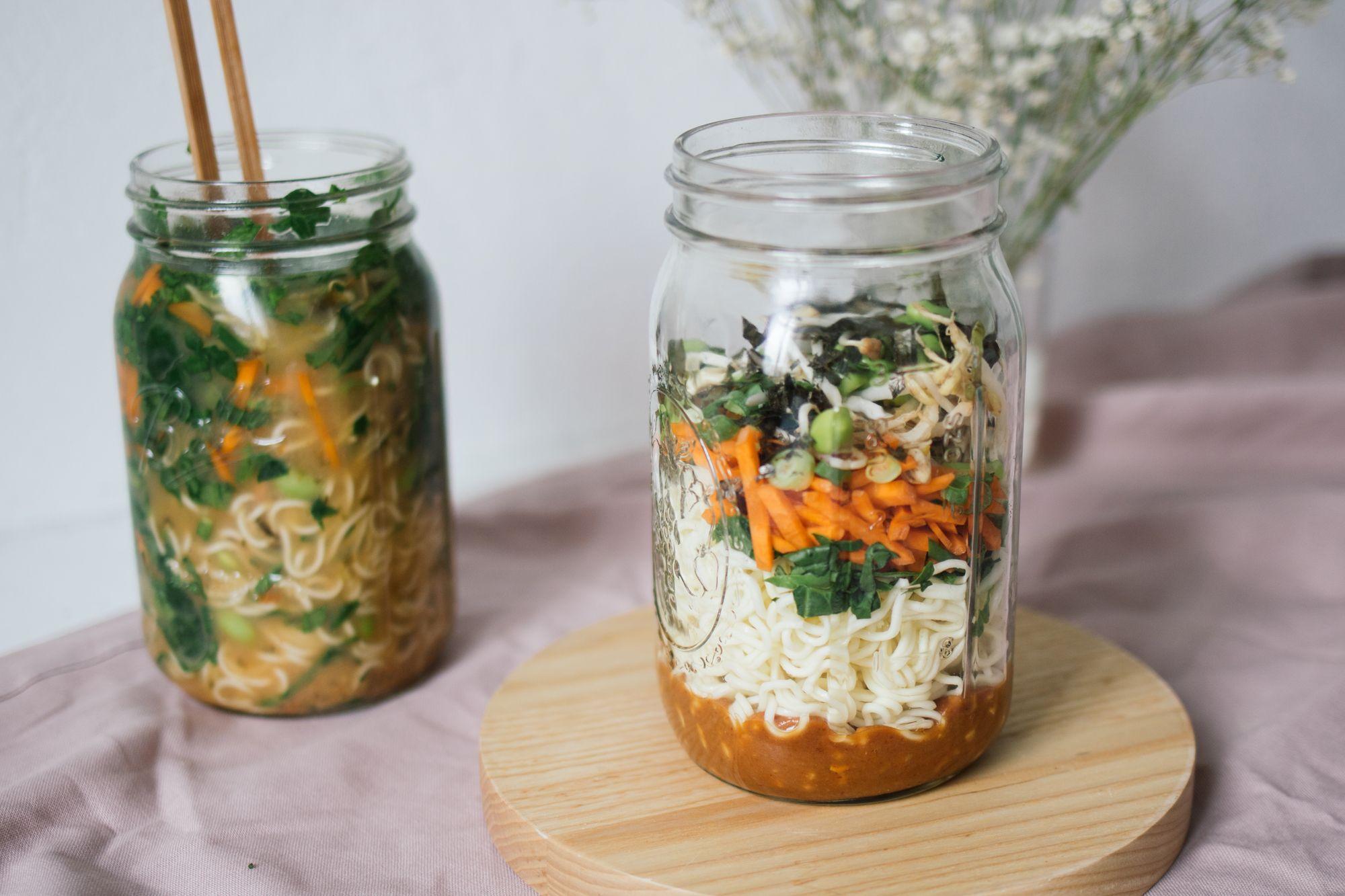 Vegane Miso-Ramen-Suppe