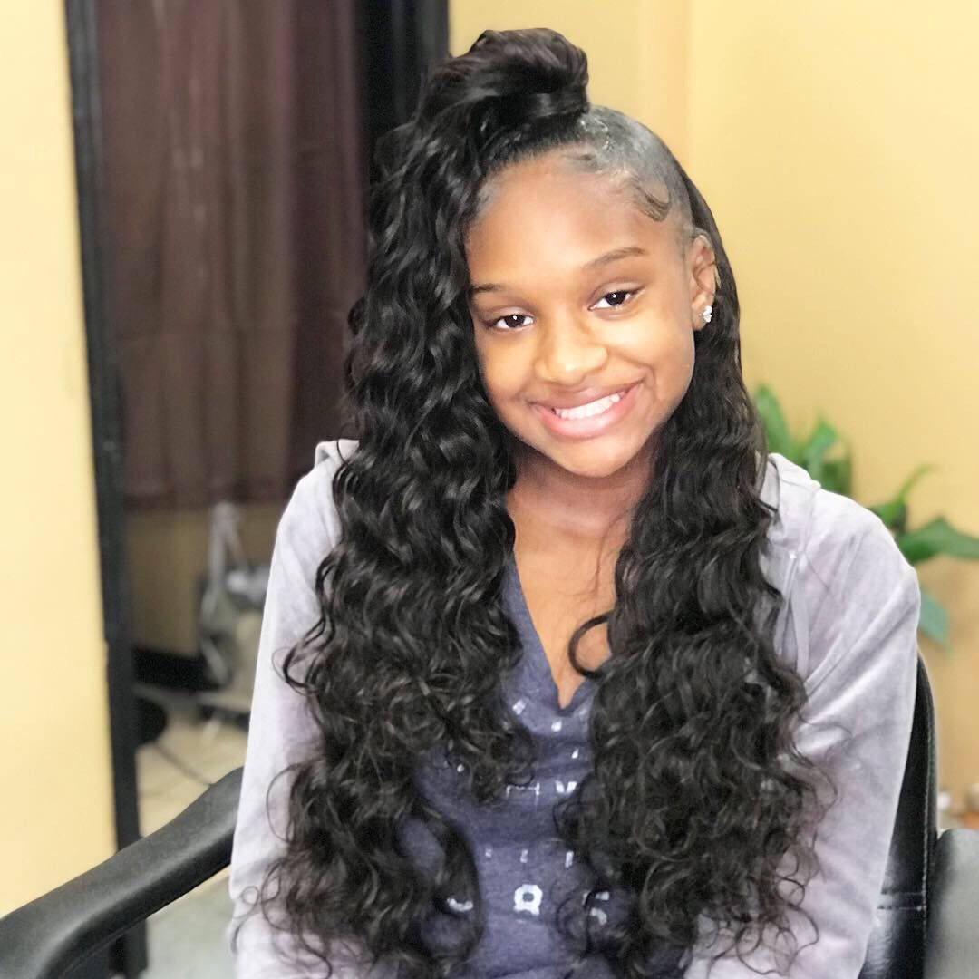 26+ Ponytail half up half down sew in inspirations