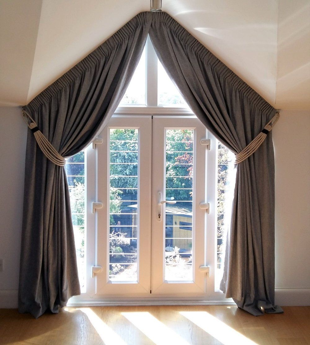 Inspiration and ideas for dressing an apex window with french door