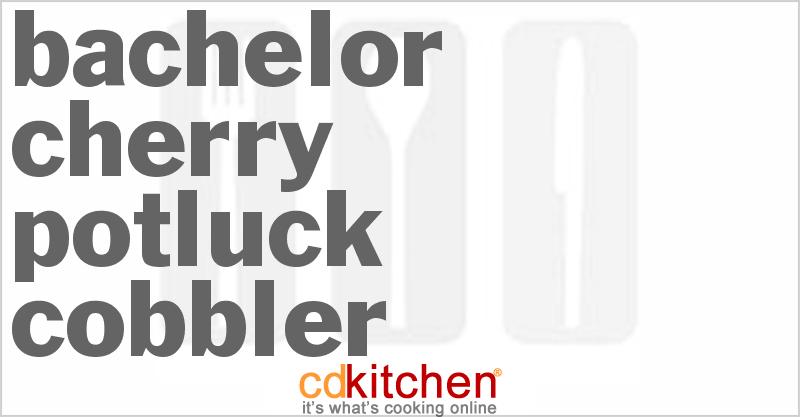 Bachelor Cherry Potluck Cobbler - CDKitchen.com
