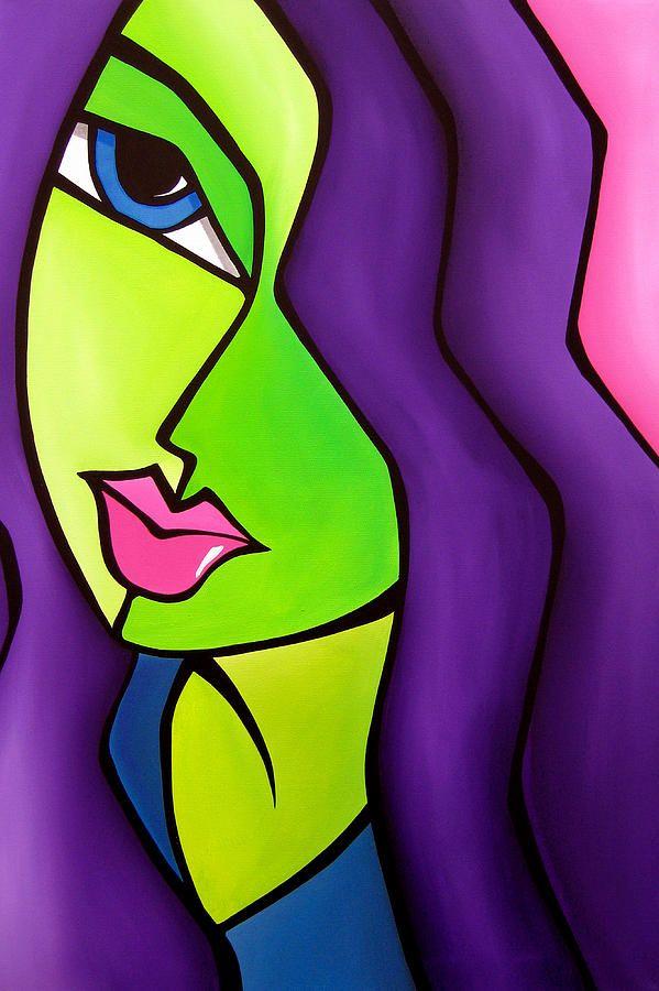 Dream Come True By Tom Fedro Pinturas Abstractas Arte Abstracto Facil Rostros De Arte