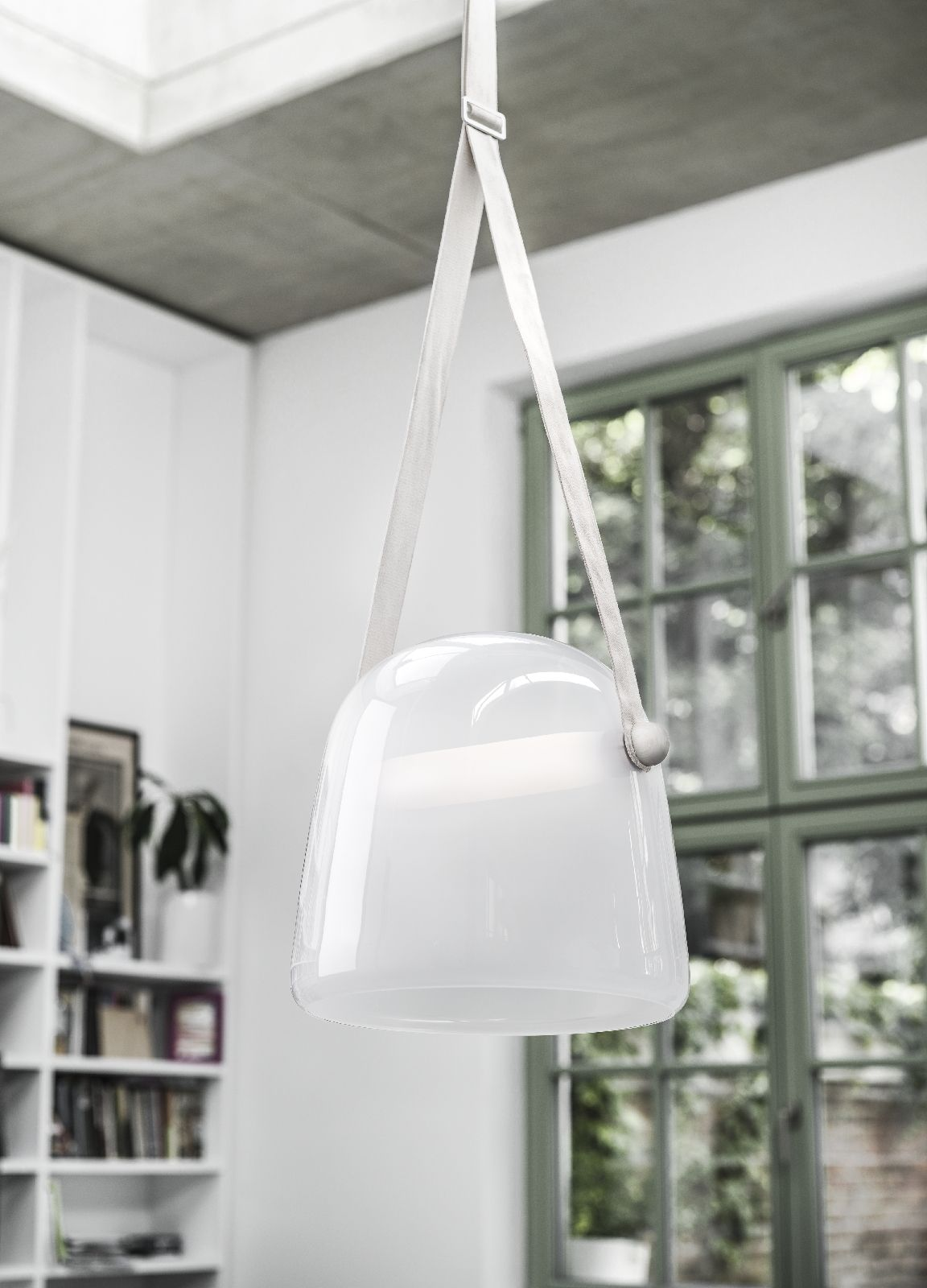 White Interior - Brokis lights - White Mona - hanging light. Design ...