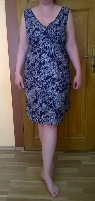 fa212e9e6833 Modré bavlněné šaty s ornamenty - vinted.cz