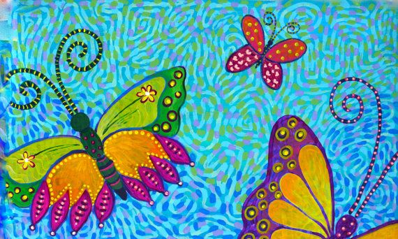 Rainbow Butterflies by SWBSTUDIO on Etsy, $100.00