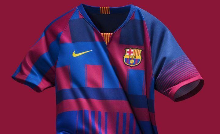 1fa8f0f9a5b FC Barcelona x Nike 20th Anniversary Jersey