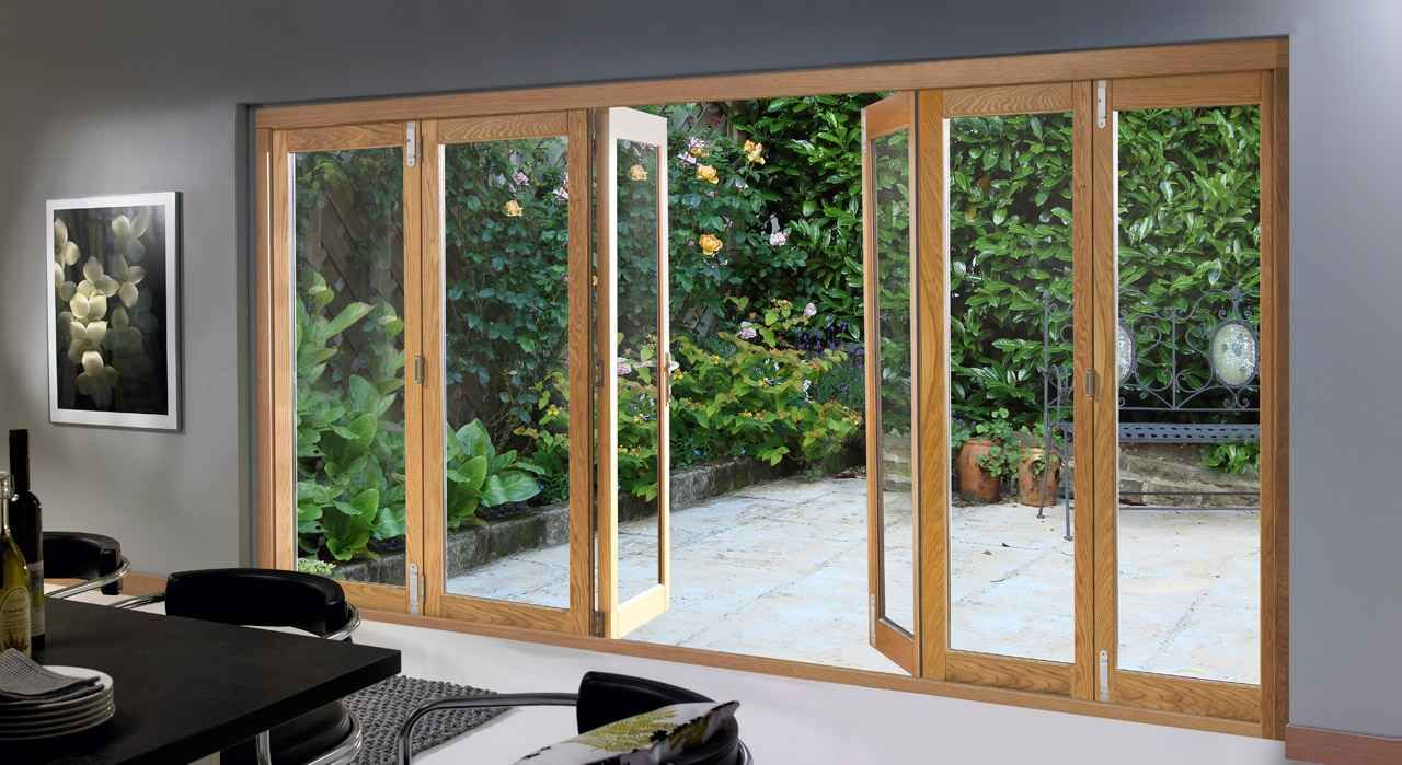 Home Folding External Patio Glass Door