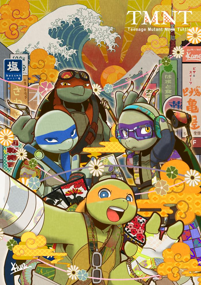 Turtles in TOKYO! by 07kiwa.deviantart.com on @DeviantArt