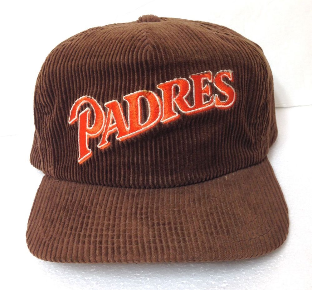 timeless design 9f97d e12b7 AS IS  very wearable  Rare vtg 80s SAN DIEGO PADRES HAT Corduroy Brown  Men Women  MLBLicensed  SanDiegoPadres