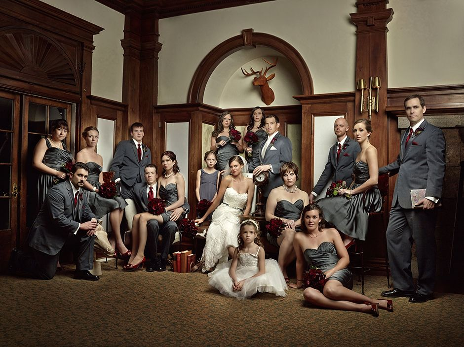 vanity fair style group lighting Bridal party photoshoot