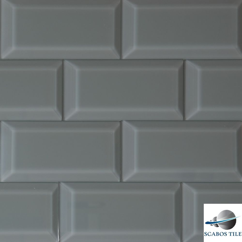 Pewter glass beveled subway tile 3x6 kitchen backsplash bathroom pewter glass beveled subway tile 3x6 kitchen backsplash bathroom shower wall dailygadgetfo Image collections