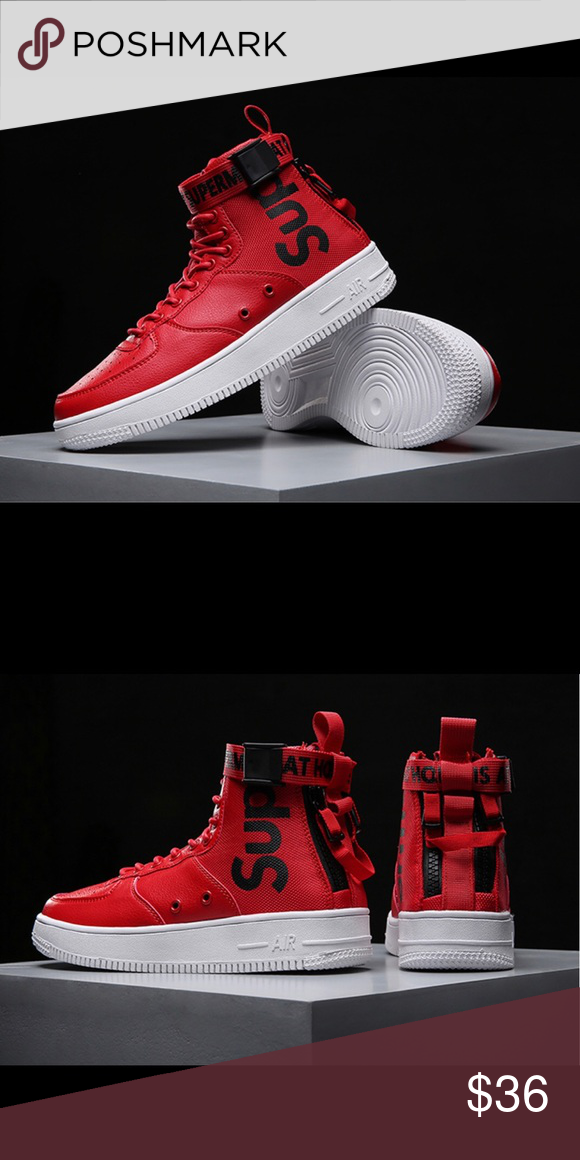 Superme Fashion High Top Sneakers Lace