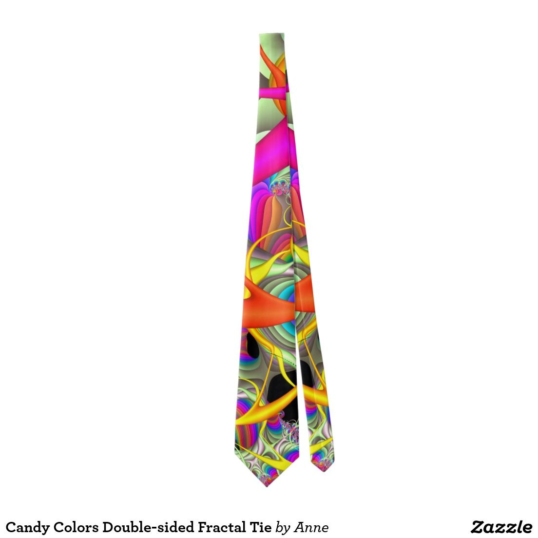 Candy Colours Double-sided Fractal Tie