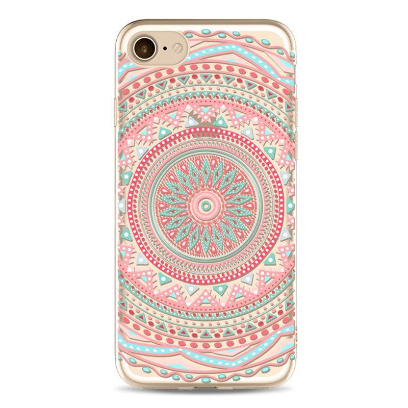 c41492af0cf Mandala-Estampado-Suave-Transparente-Gel-TPU-carcasa-Funda-para-Apple-iPhone -6-7