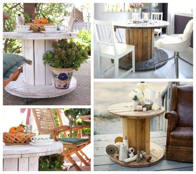 gartentisch holz ideen kabeltrommel upcycling projekt diy ceap and easy home dekor ideas. Black Bedroom Furniture Sets. Home Design Ideas