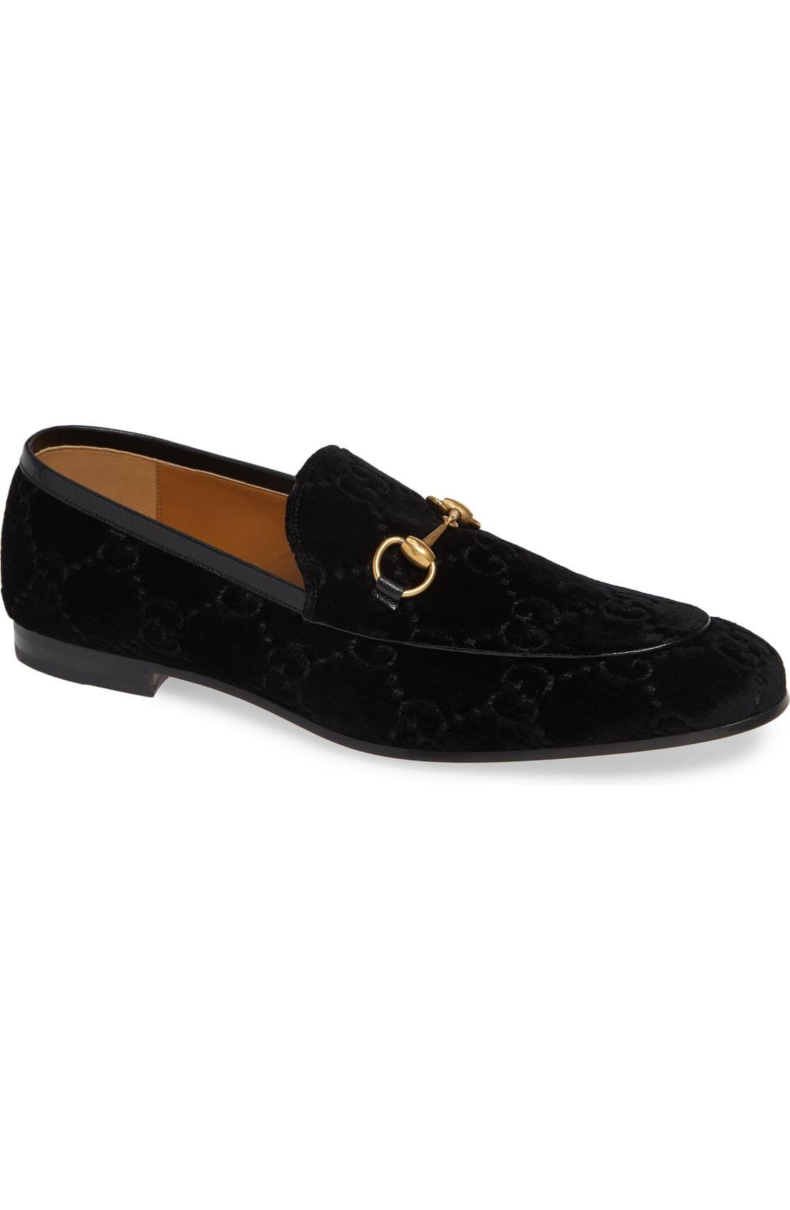 Gucci Jordaan GG Velvet Loafer (Men