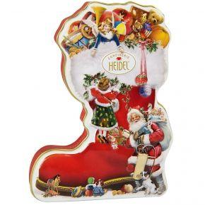 Heidel Quot Weihnachtsstiefel Quot Geschenkdose Gepragte Metalldose In Stiefelform Mit 11 Einz Christmas Boots Christmas Gift Hampers Christmas Present Boxes