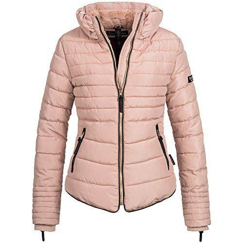 Damen Winter Jacke Gestrickte Kragen Grosse Kapuze Kurz Mantel Skijacke Farbe Weinrot Grosse L Chaquetas Ropa Chaquetas Mujer
