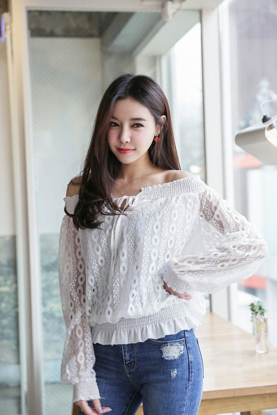 See Through Off Shoulder Blouse