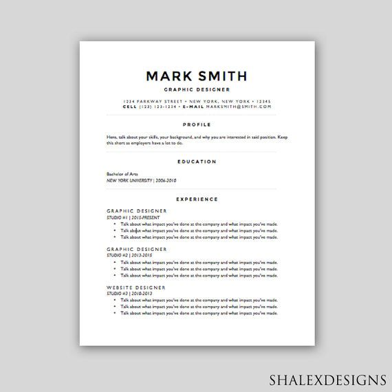 Resume Word Template Fascinating Polished Basic Resume Template #download #handmade  Resume Decorating Design