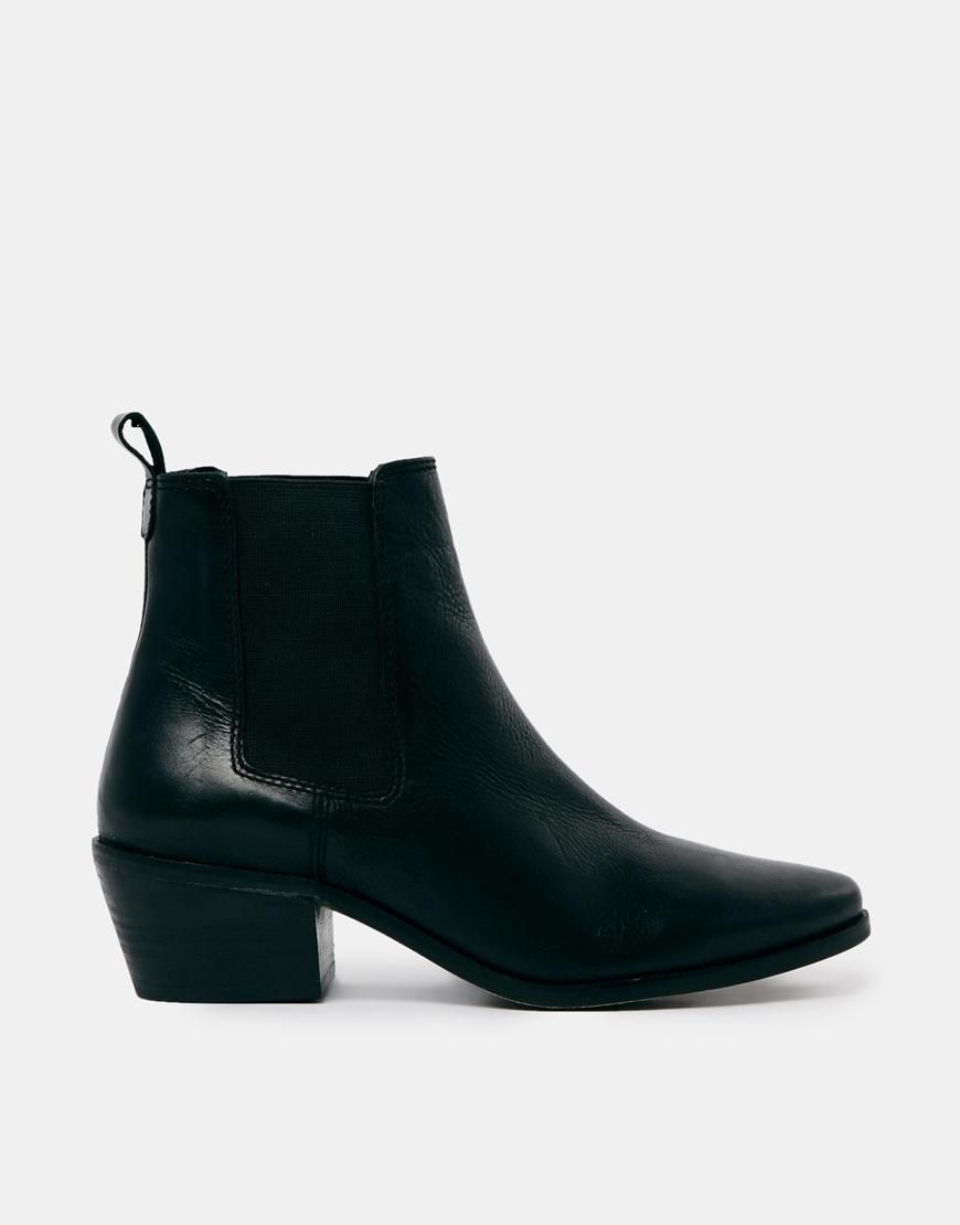 Buy Women Shoes / Dune Peetra Black Pointed Chelsea Boots