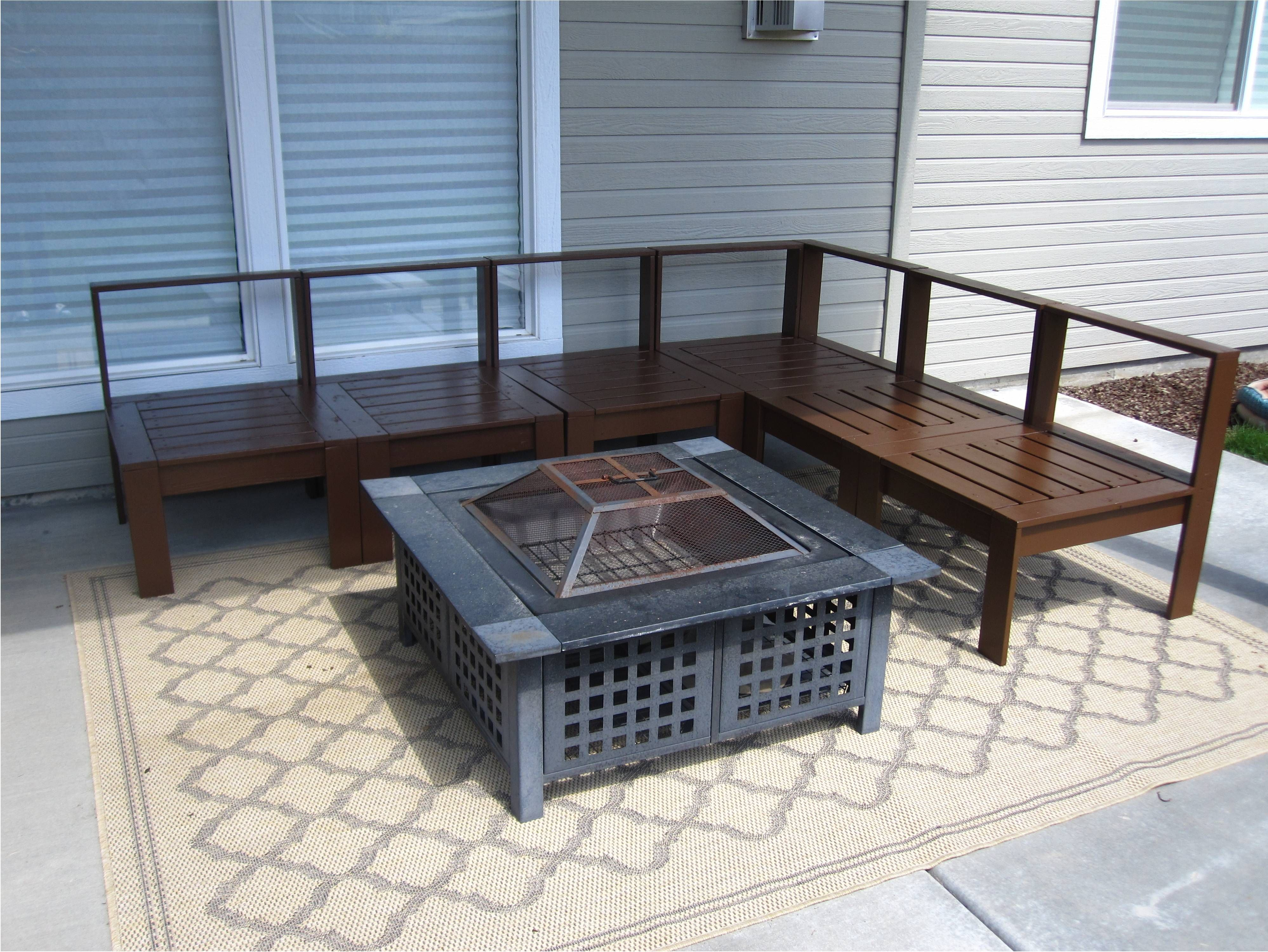 Outdoor Sectional Do It Yourself Home Projects from Ana White