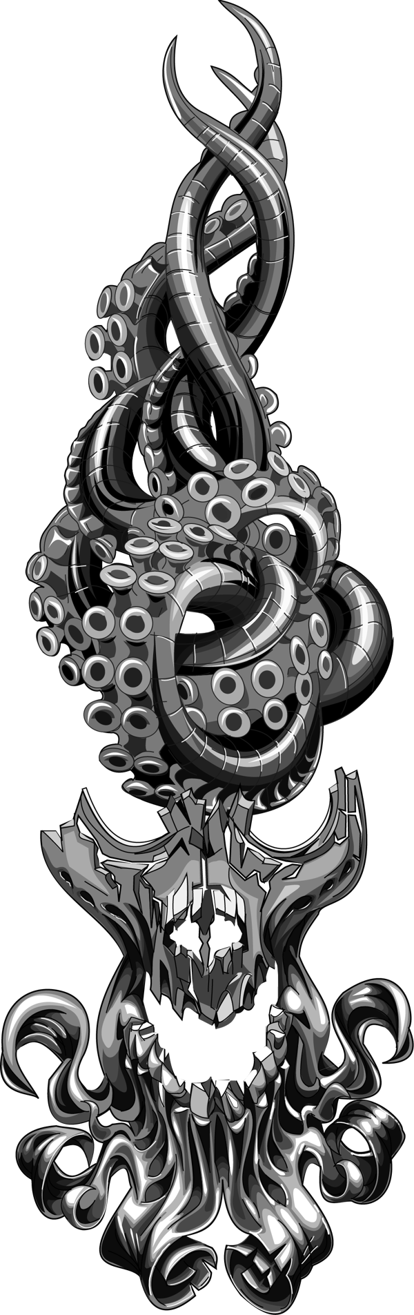 skull octopus flame area code on behance inspiration pinterest behance skulls and area codes. Black Bedroom Furniture Sets. Home Design Ideas