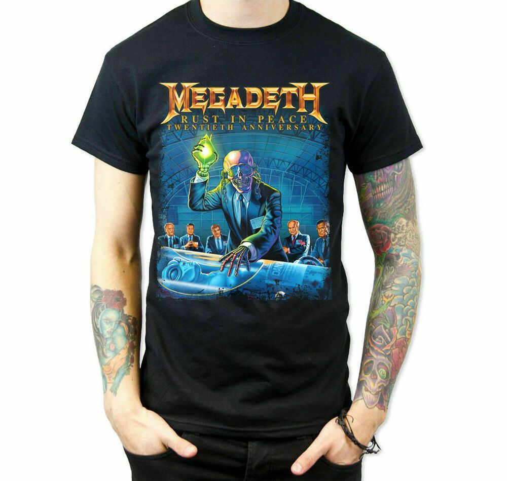 Megadeth Rust in Peace T-Shirt Size S M L XL 2XL 3XL