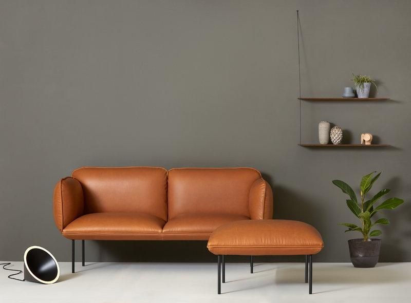 Nakki 2-seater, cognac leather