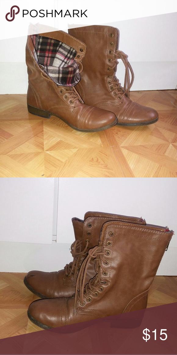 Super descuento tecnologías sofisticadas precio favorable Steve Madden Brown boot with red zipper on back These boots ...