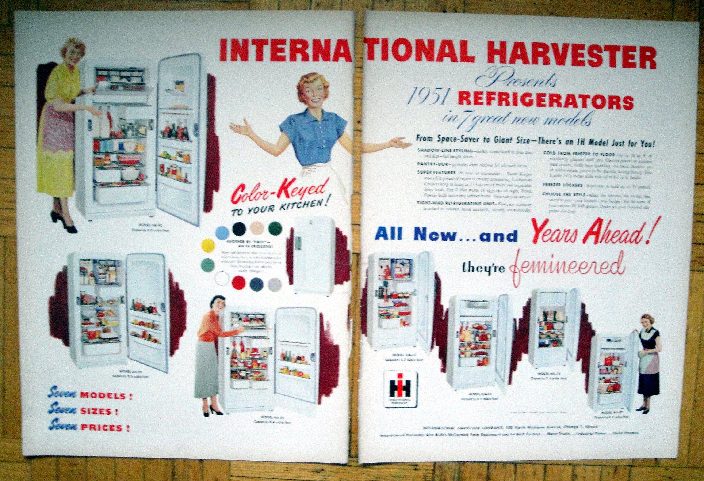 1951 International Harvester Refrigerator Original 2 Page 13 5