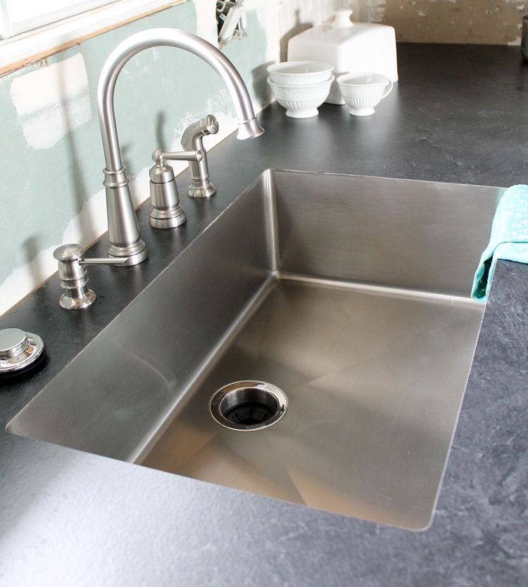 An Undermount Sink In Laminate Countertops Kitchen Remodel