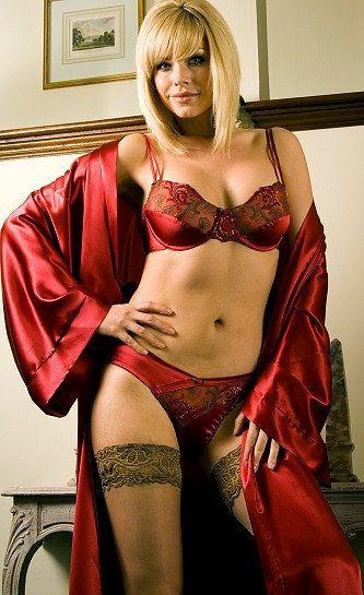 sexy women in satin lingerie