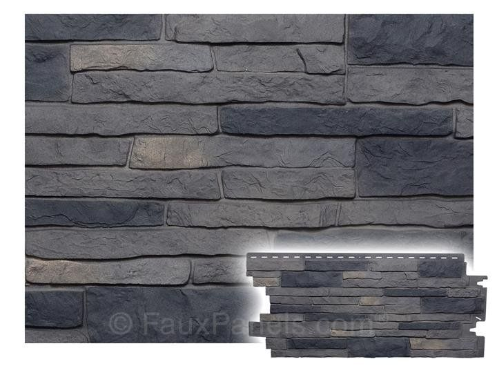 Stone Veneer Siding With The Look Of Real Stone To Improve Curb Appeal Fast And Affordably Weatherproof Uv Resi Faux Stone Walls Stone Wall Faux Stone Veneer