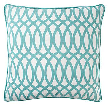 Aquamarine Geo Pillow Featuring An Upbeat Chain Link