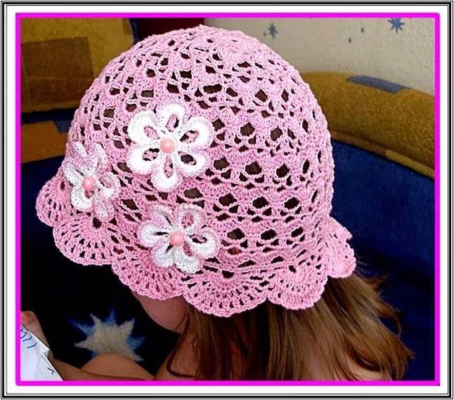 DE MIS MANOS TEJIDOS Y MAS...: Gorro para niñas | sombreros ...