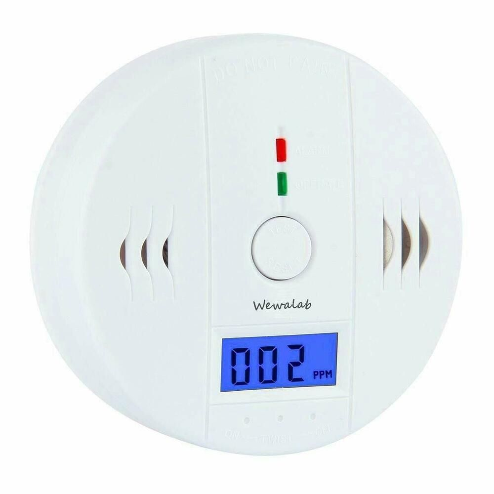 LCD Carbon Monoxide CO Detector Smoke