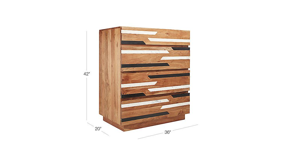 Best Edie Tall Acacia Chest Cb2 Chest Of Drawers Dresser 400 x 300