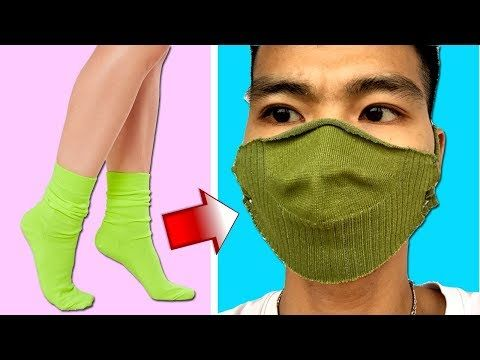 Photo of 3 Ways to Make a DIY Face Mask at Home with Socks | No Sewing Required