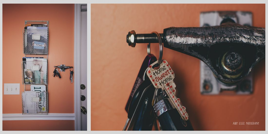 skateboard truck key holder- like this idea for Coles room. Hold coat, backpack or hat