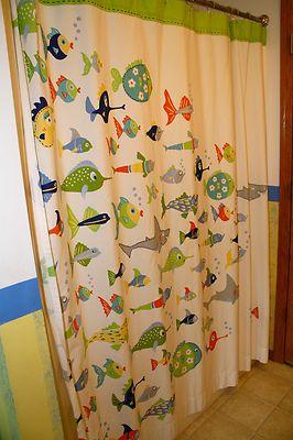 Pottery Barn Kids Funny Fish Shower Curtain Bathroom Kids