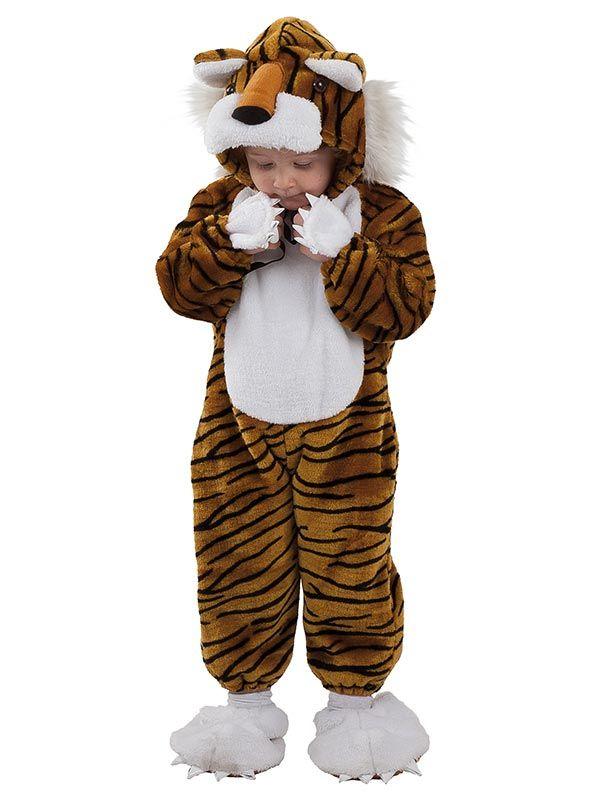 el disfraz de tigre feroz bebe incluye cabeza mono y pies en