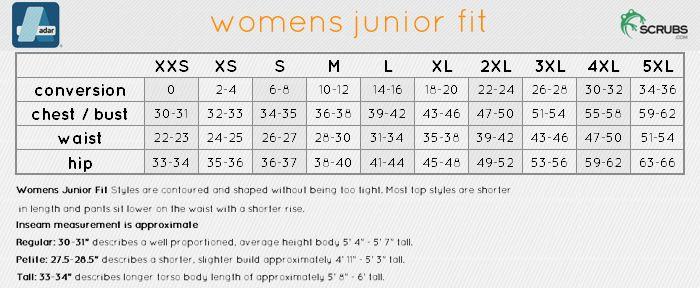 Image Result For Womens Vs Juniors Size Chart Style Size Chart