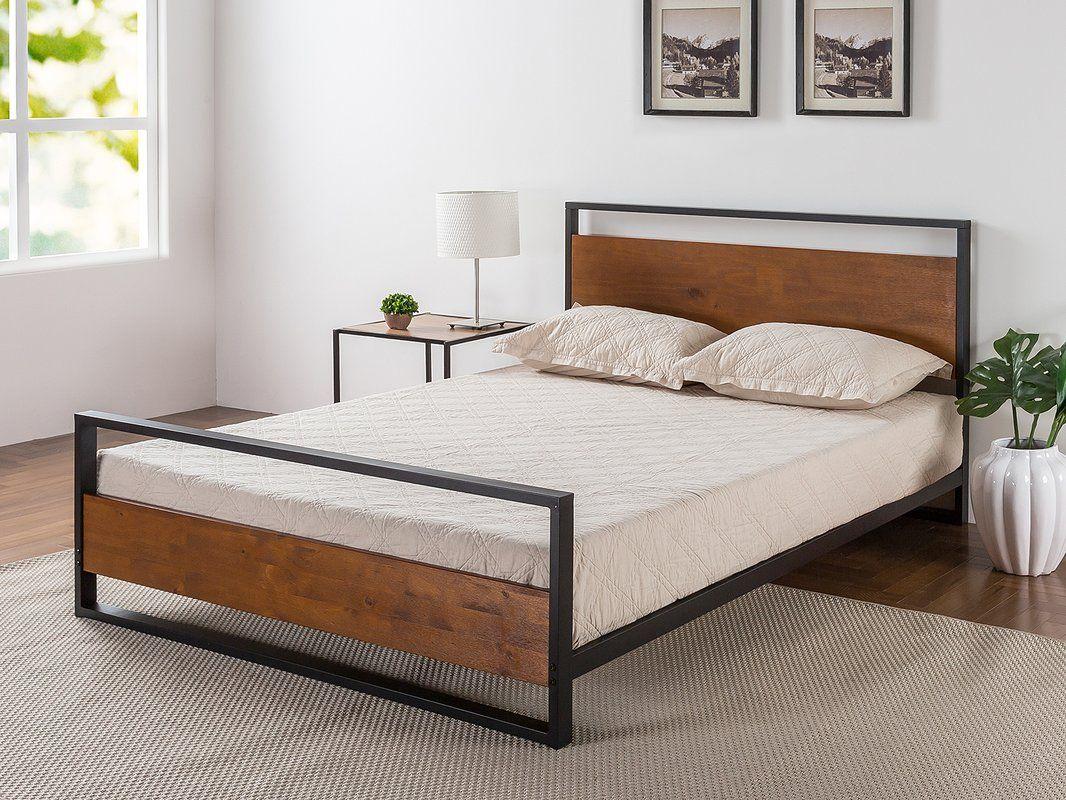 Sirena metal and wood platform bed boys bedrooms pinterest