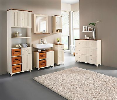 Waschbeckenunterschrank »Venezia Landhaus« Im QUELLE Online Shop   Badezimmermöbel  Set Holz